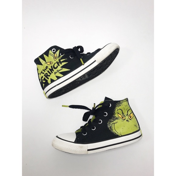 low priced 3dc40 f2052 Converse Other - Dr Seuss The Grinch Converse Christmas Toddler 10